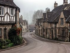 """""""Castle Combe is a village and civil parish in Wiltshire, England, about 5 miles km) northwest of the town of Chippenham. The village was a location for…"""" Dubrovnik, Hanover Germany, Castle Combe, Old Town Square, English Countryside, Imagines, Phuket, Edinburgh, Ibiza"""