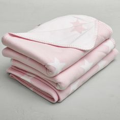 Pink Stroller Blanket with Stars