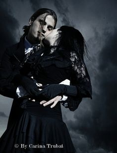 Carina Trubat image of #Goth couple