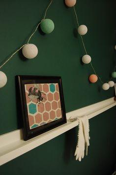 Cotton ball lights / bedroom decor