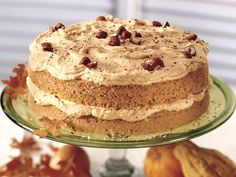 """Pumpkin-Hazelnut Torte from Betty Crocker/Bisquick- uhm, can you say AMAZING!? Plus, by switching sugar out for splenda and tweaking the """"Pumpkin cream"""" part of the recipe, i can easily make this consumable for my diabetic boyfriend! yaaaaaaaay!"""