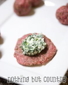 Goat Cheese & Spinach Stuffed Burgers