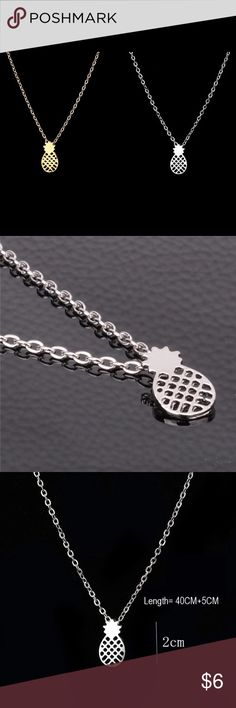 SILVER dainty pineapple necklace Beautiful and modern pineapple necklace. This is the silver one Jewelry Necklaces