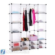 Popular DIY Kleiderschrank Garderobenschrank Steckregalsystem mit Schuhregal LPCW KleiderschrankRegalSideboard