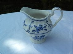 Johnson Brothers Blue Indies, Ironstone, milk jug, circa 1947, no chips, cracks or crazing, £20 + p&p