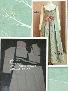 Gamis Dress Clothes For Women, Diy Clothes, Mori Fashion, Hijab Fashion, Abaya Pattern, Girls Spring Dresses, Dress Pesta, Diy Scarf, Dress Making Patterns