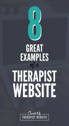 8 examples of a therapist website. Great way to get ideas for your own counseling or private practice site.