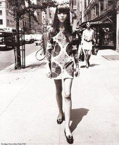 Penelope Tree walking the street