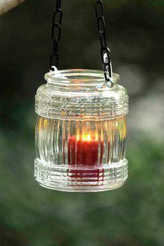 Glass wedding lantern vintage glass candleholder mason jar | Etsy