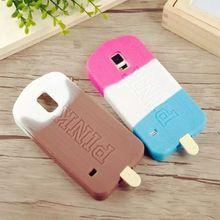 Victoria / s Secret Pink Icecream teléfono caso de la cubierta para para Samsung Galaxy S5 i9600 Popsicle del Chocolate del caucho de silicón Coque Capa(China (Mainland))