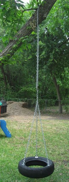 See how to make your own old fashioned tire swing. The kids will spend a lot of time on a tire swing. This website has a lot of great do it yourself Diy Tire Swing, Tire Swings, Backyard Swings, Porch Swing, Outdoor Fun, Outdoor Decor, Outdoor Living, Old Tires, Outdoor Projects