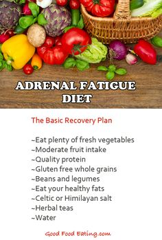 CLICK HERE to read more about how to eat to recover from adrenal fatigue.  http://goodfoodeating.com/2349/