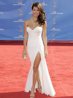 (NO.0259322)Brooke Burke A-line Sweetheart  Ruffles  Sleeveless Floor-length Chiffon Prom Dresses / Evening Dresses
