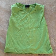 St. John's Bay Green Athletic Tank Top 90% cotton 10% Lycra spandex St. John's Bay Tops Tank Tops