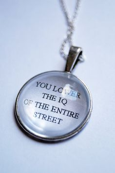 You Lower the IQ of the Entire Street  - Sherlock Fandom Necklace (Curious Owl) on Etsy, $16.18 CAD