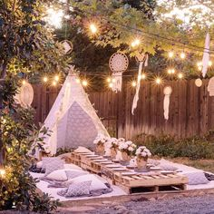 A Bohemian Backyard Dinner Party Backyard Boho and Dinners