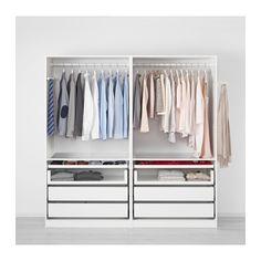 PAX Wardrobe - 200x66x201 cm, soft closing damper - IKEA Wardrobe for both of us