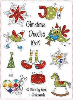 Christmas Doodles 10x10