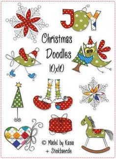 Colorful Christmas doodle inspiration Doodles 10x10