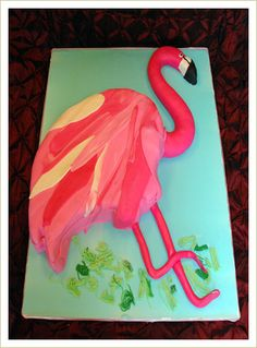 Or this with the green tree frog cupcakes Flamingo Cake, Flamingo Party, Pink Flamingos, Cold Brew Coffee Maker, Real Coffee, Expensive Gifts, Animal Party, Party Animals, Party Themes