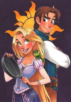 Rapunzel and Eugene by SAkURA-JOkER on deviantART