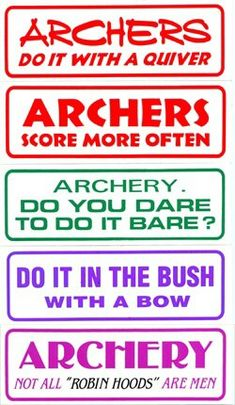 Archers do it best