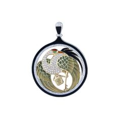 """Longevity Crane"" Diamond Pendant - Plukka - Shop Fine Jewelry Online"