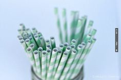 Neat! - Mint Striped Straws | CHECK OUT MORE GREAT GREEN WEDDING IDEAS AT WEDDINGPINS.NET | #weddings #greenwedding #green #thecolorgreen #events #forweddings #ilovegreen #emerald #spring #bright #pure #love #romance