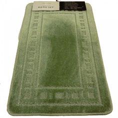 $20.00 GREEN LUXURY BATHROOM BATH MAT PEDESTAL SET  From PCJ SUPPLIES   Get it here: http://astore.amazon.com/ffiilliipp-20/detail/B005339HMQ/192-9887679-6355815