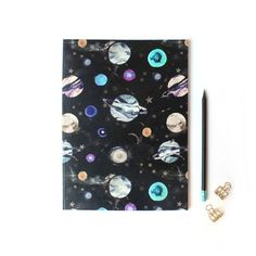 Nikki Strange - A4 Marble Galaxy Notebook (105 NOK) ❤ liked on Polyvore featuring home, home decor, stationery and add-ons
