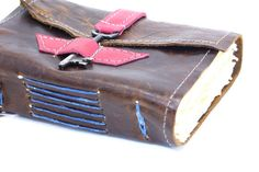 Gorgeous! :: Pink and Brown Leather Journal by Binding Bee by bindingbee