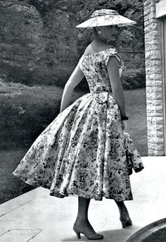 Jacques Fath Design for L`Officiel, 1954
