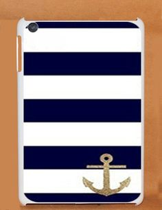 Glitter Anchor Stripe ipad mini case iPad Mini 2 Case by wangmade