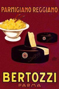 Parmigiano Reggiano Bertozzi Parma Italy Cheese Vintage Poster FREE S/H Vintage Italian Posters, Pub Vintage, Vintage Advertising Posters, Advertising Signs, Vintage Labels, Vintage Travel Posters, Vintage Advertisements, Vintage Italy, Wedding Vintage