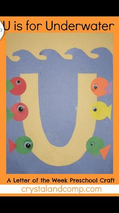 This page is a lot of letter u crafts for kids. There are letter u craft ideas and projects for kids. If you want teach the alphabet easy and fun to kids,you can use these activities. Preschool Letter Crafts, Alphabet Letter Crafts, Abc Crafts, Preschool Projects, Classroom Crafts, Preschool Activities, Letter Art, Children Projects, Alphabet Books