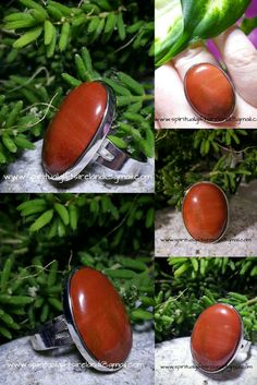 Red Jasper is always grounding, balancing, soothing and stabilizing. Jasper's energy imparts a sense of inner peace and understanding that we are a part of something greater than ourselves.  It strengthens our spiritual awareness and understanding of our sacred connection.  Handcrafted ring, unique and one of a kind. Full description and gift bag included.  This is the exact ring you receive.  Size: universal and adjustable