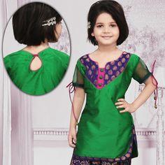 Green Dupion Silk Kameez With Salwar Online Shopping: UNJ1