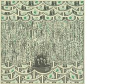 Mark Wagner defaces real 1 dollar bills to create his works