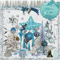 Zirconium Scraps: Blue and silver Christmas