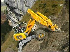 Menzi Muck A91 im Steilhang - on steep slope - YouTube