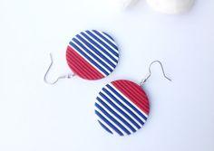 Polymer Clay EarringsEarrings with stripes by OKclayjewelry
