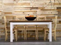 Rustikální jídelní stůl z masivního dřeva z kolekce Sweet home a rusikální židle v přírodním vosku Sweet Home, Kitchen, Table, Furniture, Home Decor, Cooking, Decoration Home, House Beautiful, Room Decor