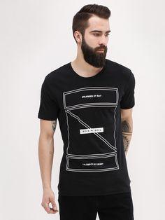 Buy Rock 'N' Roll Printed T-Shirt For Men - Men's Black T-shirts Online in India