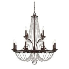 Savoy House Byanca 12 Light Candle Chandelier