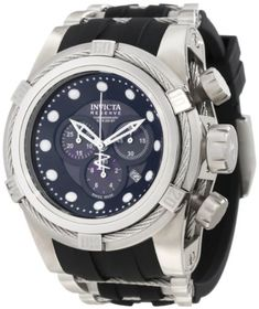 Men's Wrist Watches - Invicta Mens 0826 Bolt Reserve Chronograph Black MotherOfPearl Dial Black Polyurethane Watch ** You can find out more details at the link of the image. (This is an Amazon affiliate link)