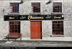 Cheevers Irish Bar, Craughwell, County Galway, Republic of Ireland, Europe Stock Pictures, Stock Photos, Irish Bar, Republic Of Ireland, Photo Library, Europe, History, Outdoor Decor, Etsy