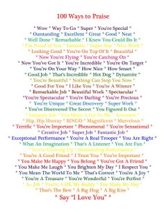 100 Ways to Praise Your Child - printable from Celtic Mommy blog #ChildLife