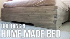 DIY : Making a homemade bed / Hjemmelaget seng - YouTube