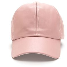 PINK Smooth Talker Faux Leather Cap (10 CAD) ❤ liked on Polyvore featuring accessories, hats, cap, head, headwear, pink, cap hats, faux leather cap, pink cap and faux leather hat