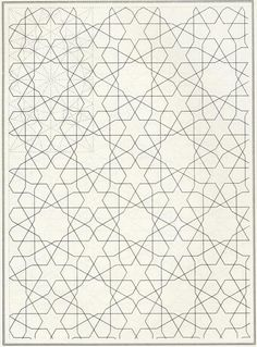 Non Representative - doesn't represent any image.  Pattern in Islamic Art